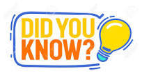 Did You Know? w/ light bulb